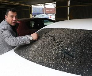 Karabük'te çamur yağmuru araç sürücülerini oto yıkamalara koşturdu