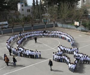 Minik öğrenciler Afrin zaferini koreografiyle kutlandı