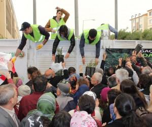 Eskişehir Orman Bölge Müdürlüğü'nün ücretsiz fidan dağıtımları sürüyor