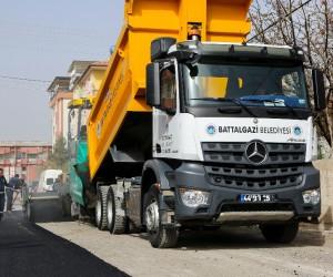 Göztepe Mahallesinde asfalt çalışması