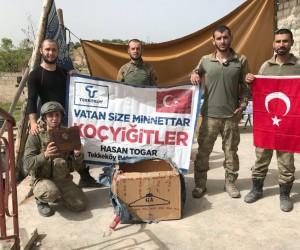 Başkan Togar'ın Mehmetçiklere gönderdiği paketler Afrin'e ulaştı