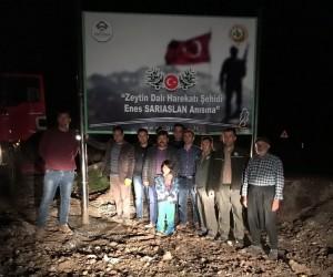 Şehit Enes Sarıaslan anıtı ve hatıra ormanı yapılıyor