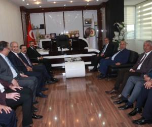 TOBB Başkanı Hisarcıklıoğlu ATSO'nun çalışmaları hakkında bilgiler aldı