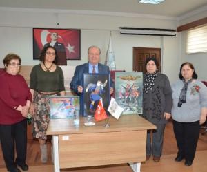 Başkan Özakcan, el sanatları kursiyerlerini ağırladı