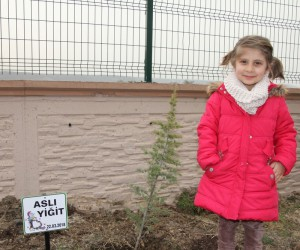 Devlet Ana Anaokulu öğrencilerinden hatıra ormanı