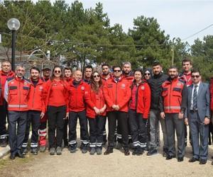 Bilecik UMKE ekibi Pelitözü Göleti'nde kamp kurdu