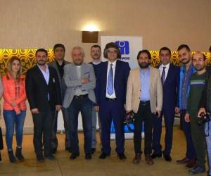 İMO Başkanı Tortum ve yönetim kurulu üyeleri, basın mensupları ile bir araya geldi
