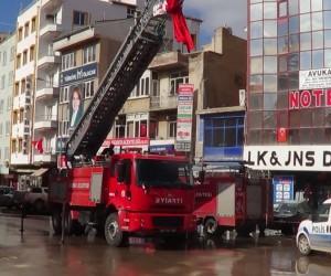 Sandıklı şehidini Türk bayrakları ile karşılayacak