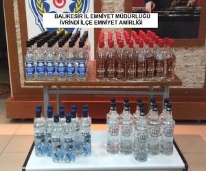 155 şişe kaçak içki ele geçirildi