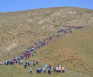 Yüksekova'dan Afrin kahramanları için bayraklı yürüyüş