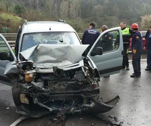 Samsun'da 4 kişinin yaralandığı araçtaki keçiye bir şey olmadı