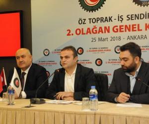 Arslan, Öz Toprak-İş Sendikası Genel Kurulu'na katıldı