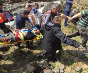 Rize'de kestikleri ağacın altında kalan amca ile yeğeni yaralandı