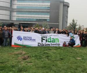 Erciyes Teknopark'ta 2. Fidan Dikim Şenliği düzenlendi