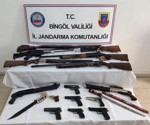 Bingöl'de silah kaçakçılarına operasyon: 11 gözaltı