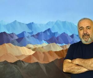 """Ressam Hasan Mutlu'nun """"Dağlar"""" temalı sergisi"""