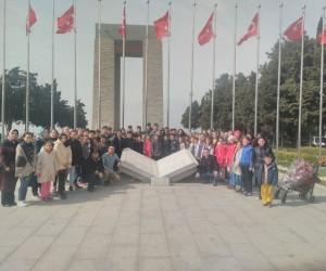 Pazarlarlı öğrenciler Çanakkale'de