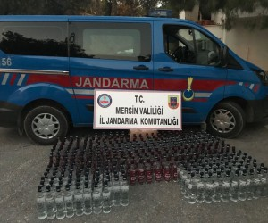 Mersin'de 360 şişe sahte içki ele geçirildi