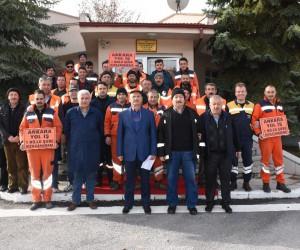 Kızılcahamam Karayolları taşeron işçilerinden kadro talebi