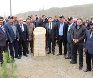 Bayat'ta bin 600 fidan toprakla buluşturuldu