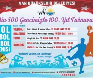 Van Büyükşehir Belediyesinden 100. yıl turnuvası