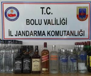 Bolu'da, 81 litre kaçak içki yakalandı