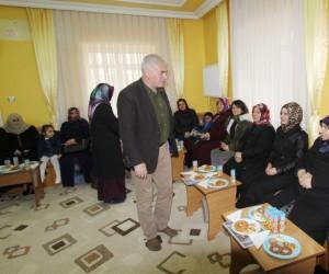Başkan Memiş Bağlarbaşı Cami odasında belediye çalışmalarını anlattı
