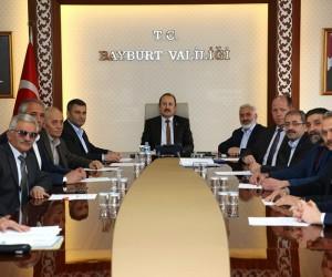 Bayburt OSB Müteşebbis heyeti toplantısı Vali Pehlivan başkanlığında gerçekleştirildi