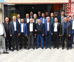 Milletvekili Şahin'in muhtarları ziyaret etti.