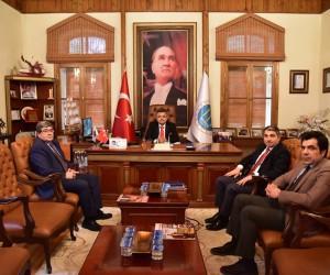 OEDAŞ İl Müdürü Aykut ile Başkan Yağcı bir araya geldi
