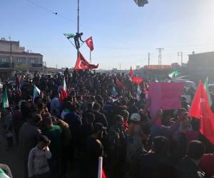 Tel Rıfatlılardan Türkiye'ye destek gösterisi