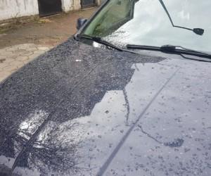 İnegöl'e dün gece çamur yağdı