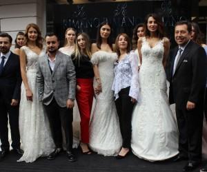 Ünlü mankenler Bursa'da gelinlik tanıttı