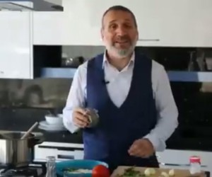 Fikret Bayram'dan yemek tarifli seçim çalışması