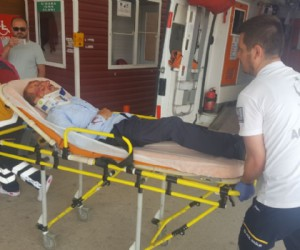 Alanyurt'ta korkutan kaza; 2 yaralı
