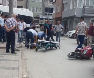 Begonya Sokak'ta trafik kazası; 2 yaralı