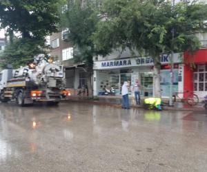 Yağmur öncesi yetkililer harekete geçti