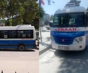 Cerrah'taki minibüsler tekrar durduruldu