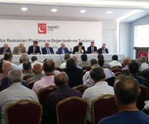 Ertan Sütçü Saadet Partisi İlçe Başkanları Değerlendirme Toplantısına Katıldı.