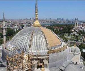 Sultan Ahmet camisinde restorasyon sürüyor