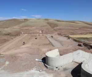 Erzincan Çatakdere Gölet'inde çalışmalar devam ediyor