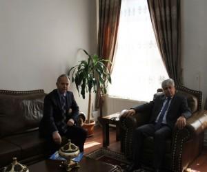 Vali Rahmi Doğan, Emniyet Müdürü Ümit Bitirik'i, ziyaret etti