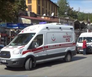 Şehiriçi minibüslerin çarpışması sonucu 2 kişi yaralandı