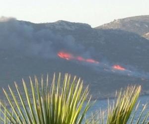 Meis Adası'nda orman yangını