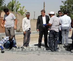 Erhan caddesinde üst yapı çalışması başladı