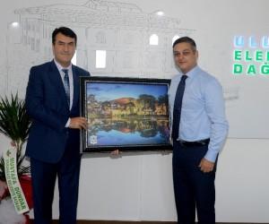 Dündar'dan UEDAŞ Genel Müdürü Gümüşlü'ye ziyaret