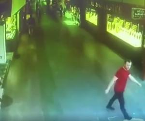 İnegöl'de deprem kameralara böyle yansıdı